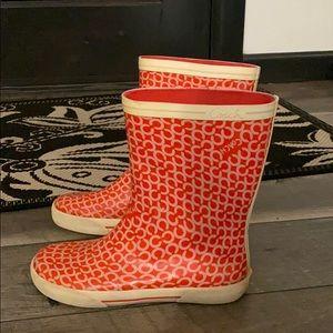 Coach signature Poppy rubber rain boots Sz 6.5